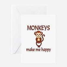 Monkey Happy Greeting Card