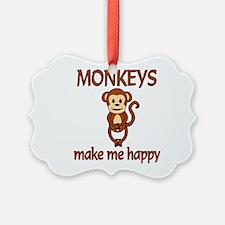 Monkey Happy Ornament