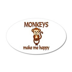 Monkey Happy Wall Decal