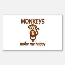 Monkey Happy Decal