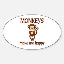 Monkey Happy Bumper Stickers