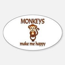 Monkey Happy Decal
