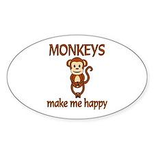 Monkey Happy Stickers