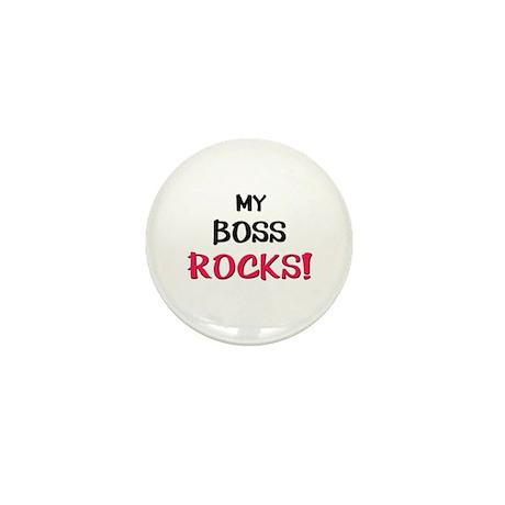 My BOSS ROCKS! Mini Button (10 pack)