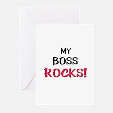 My BOSS ROCKS! Greeting Cards (Pk of 10)