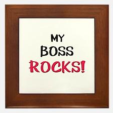 My BOSS ROCKS! Framed Tile