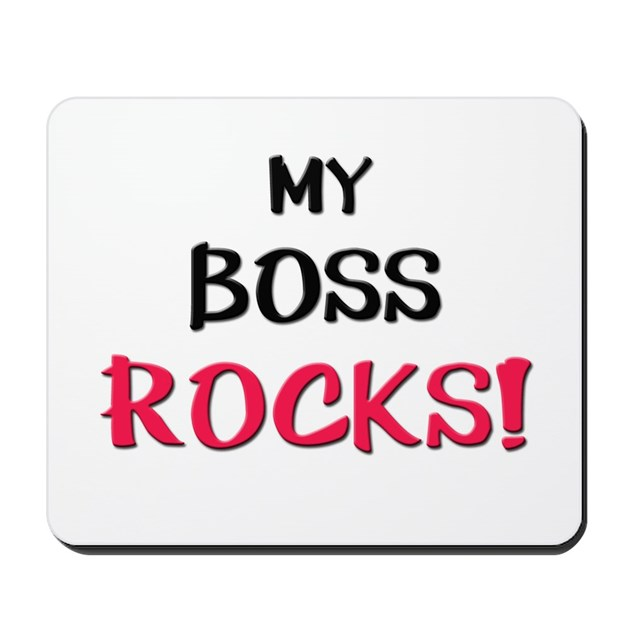 My Boss Rocks Mousepad By Familytshirts