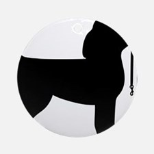 Beagle Leash Ornament (Round)