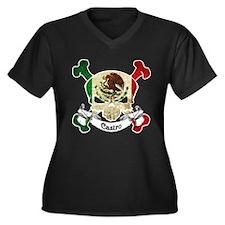 Castro Skull Women's Plus Size V-Neck Dark T-Shirt