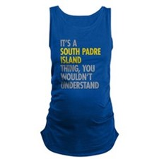 South Padre Island Thing Maternity Tank Top