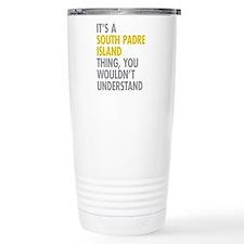 South Padre Island Thin Travel Mug