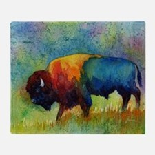 Cute Buffalo Throw Blanket