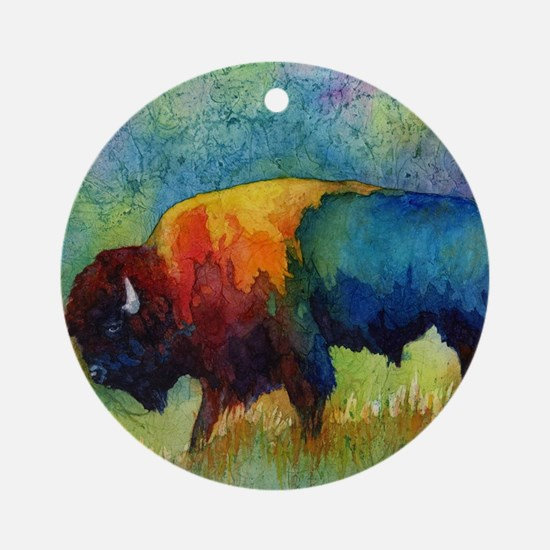Cute Buffalo Round Ornament