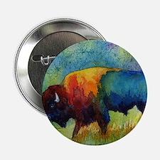 """Cute Buffalo bulls 2.25"""" Button"""