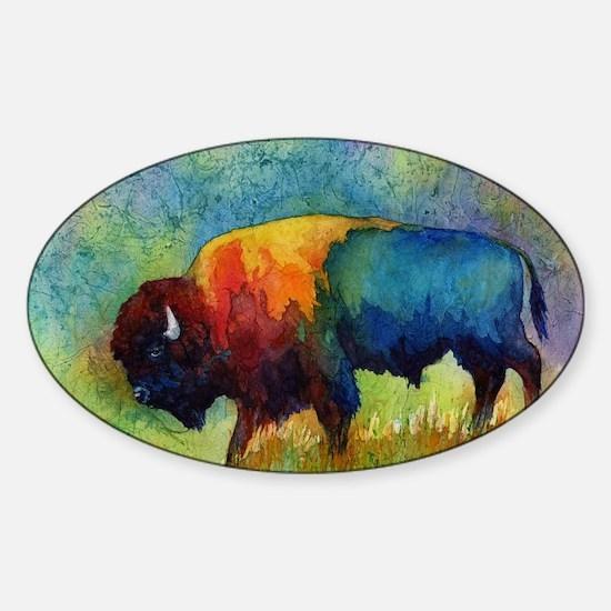 Cute Buffalo Sticker (Oval)