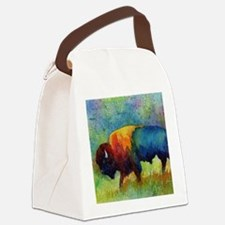 Cute Bison Canvas Lunch Bag