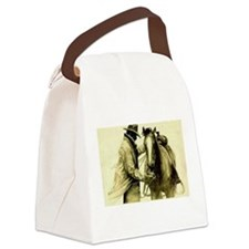Cute Horse saddle Canvas Lunch Bag