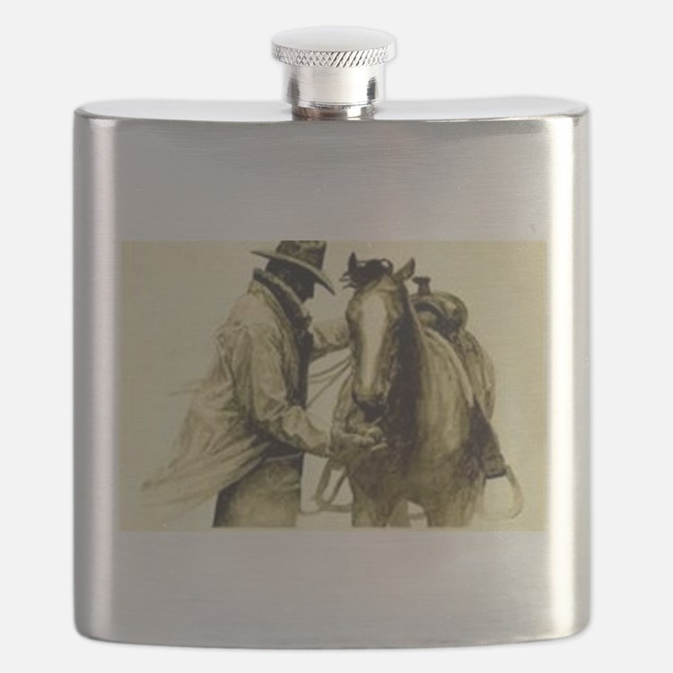 Cute Old west Flask
