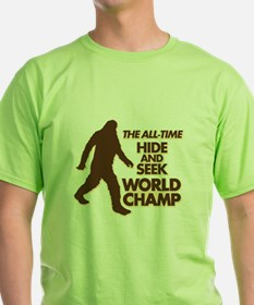 BIGFOOT - THE ALL-TIME HIDE & SEEK WORLD CHAMP T-S
