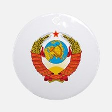 Cute Ussr Round Ornament
