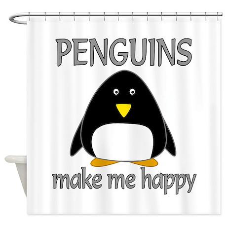 Penguin Happy Shower Curtain