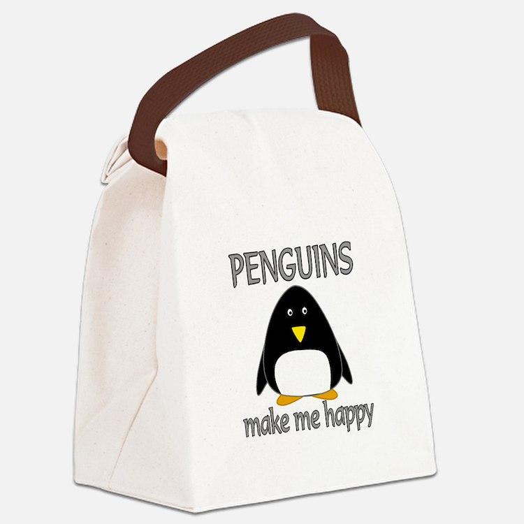 Penguin Happy Canvas Lunch Bag