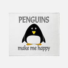 Penguin Happy Throw Blanket