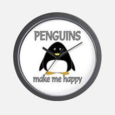Penguin Happy Wall Clock