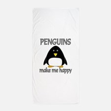 Penguin Happy Beach Towel