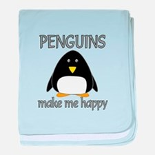 Penguin Happy baby blanket