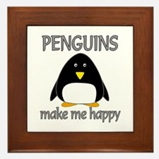 Penguin Happy Framed Tile