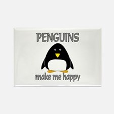 Penguin Happy Rectangle Magnet
