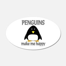 Penguin Happy Wall Decal