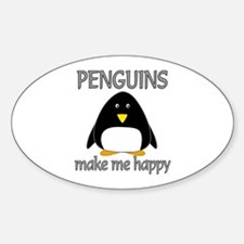 Penguin Happy Decal