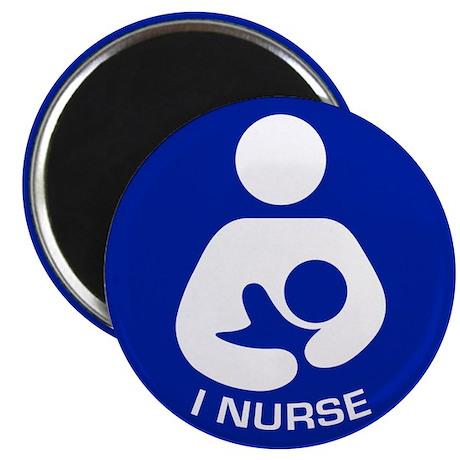 """Breastfeeding: I Nurse 2.25"""" Magnet (10 pack)"""