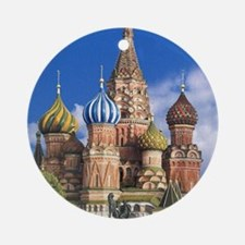 Cute Moscow Round Ornament