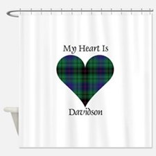 Heart - Davidson Shower Curtain