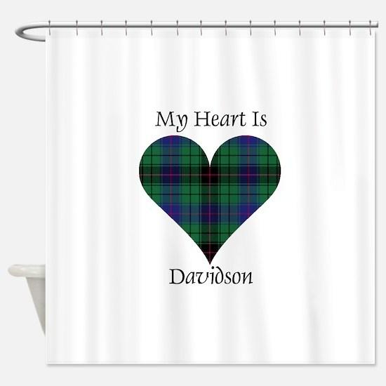 Heart - Davidson Shower Curtain