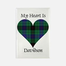 Heart - Davidson Rectangle Magnet