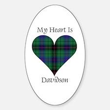 Heart - Davidson Sticker (Oval)