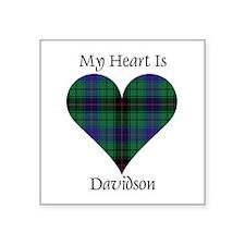 """Heart - Davidson Square Sticker 3"""" x 3"""""""