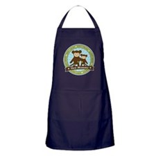 New Mom Monkey Apron (dark)