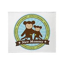 New Mom Monkey Throw Blanket