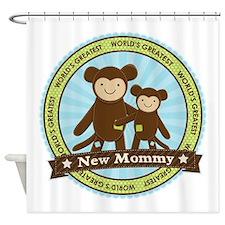 New Mom Monkey Shower Curtain