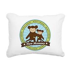 New Mom Monkey Rectangular Canvas Pillow