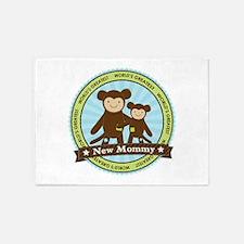 New Mom Monkey 5'x7'Area Rug