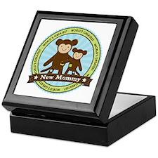 New Mom Monkey Keepsake Box