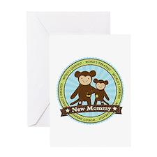 New Mom Monkey Greeting Card