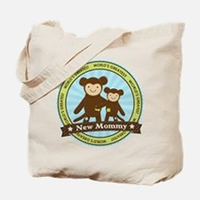 New Mom Monkey Tote Bag