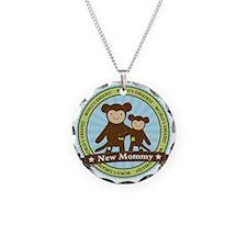 New Mom Monkey Necklace